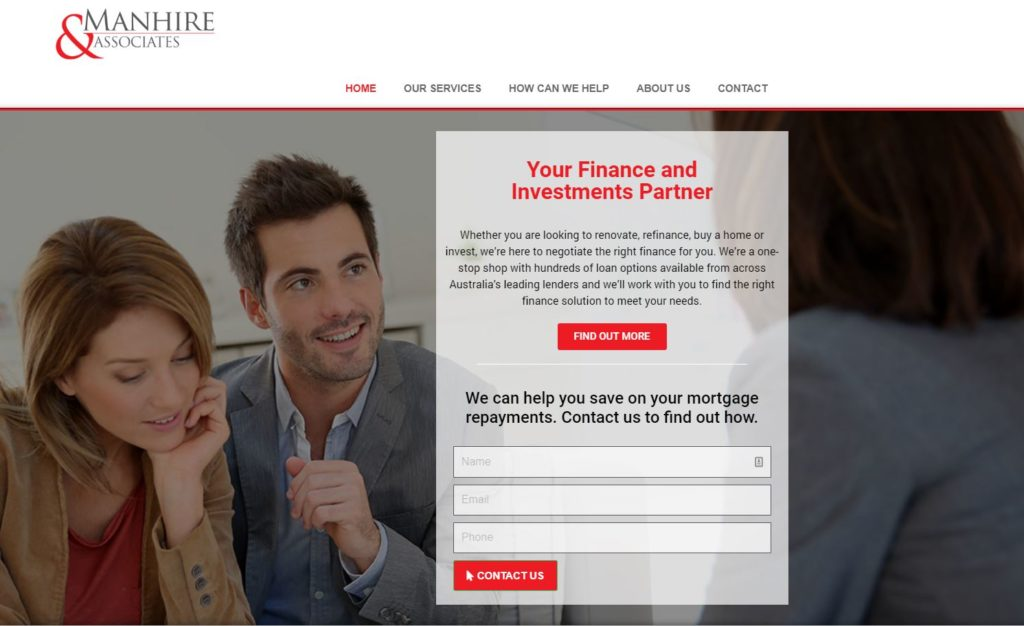 Manhire Finance Website