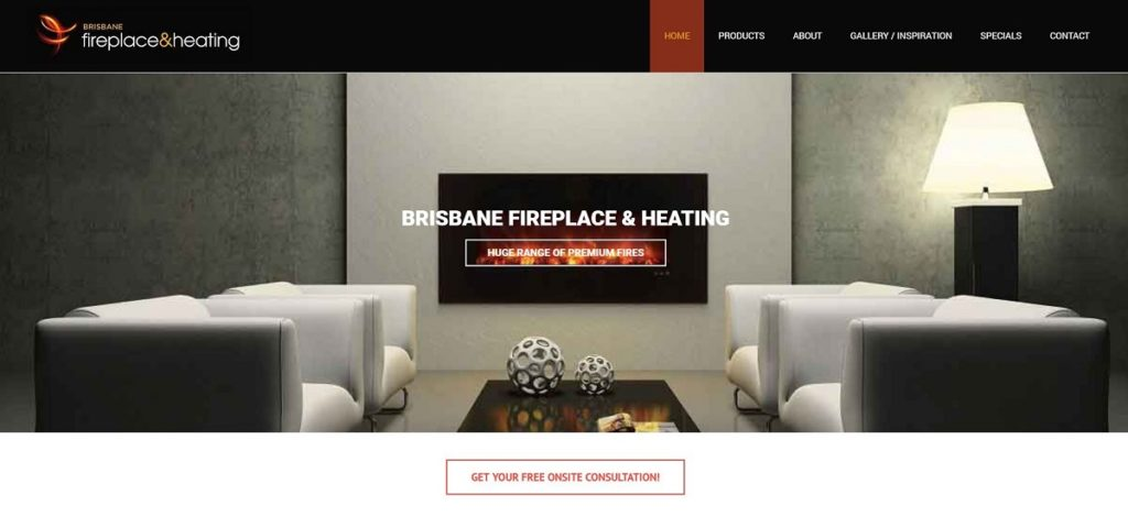 Brisbane Fire and heating Website